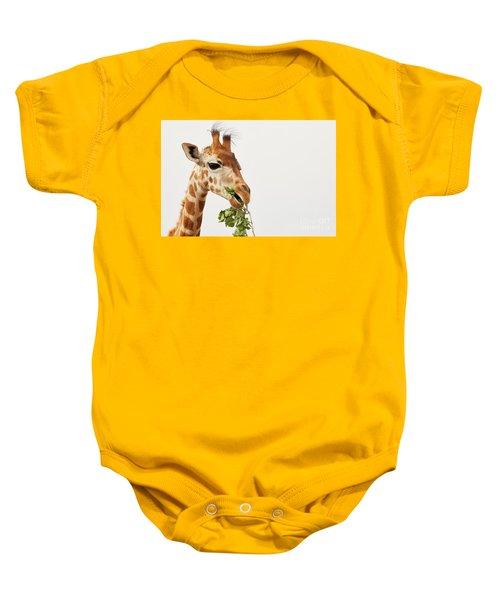 Portrait Of A Rothschild Giraffe  Baby Onesie