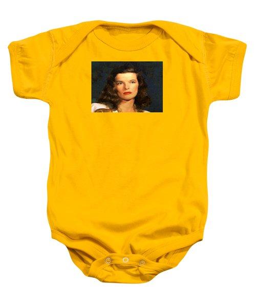 Portrait Of Katherine Hepburn Baby Onesie