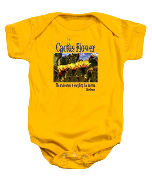 Prickly Pear Cactus Flowers Baby Onesie