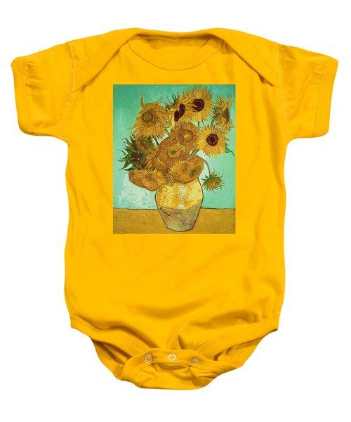 Sunflowers By Van Gogh Baby Onesie