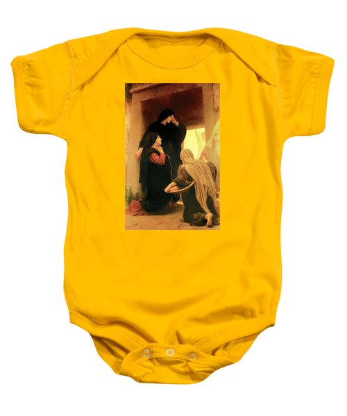 Three Marys At The Tomb Baby Onesie