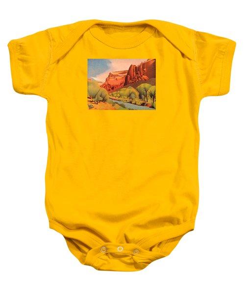 Zion Canyon Baby Onesie