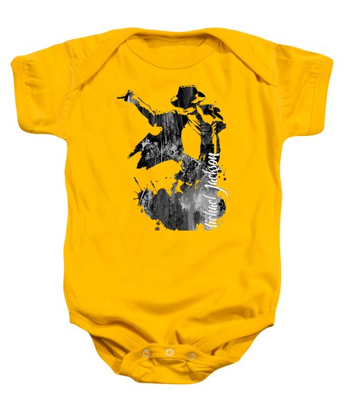 Michael Jackson Collection Baby Onesie by Marvin Blaine