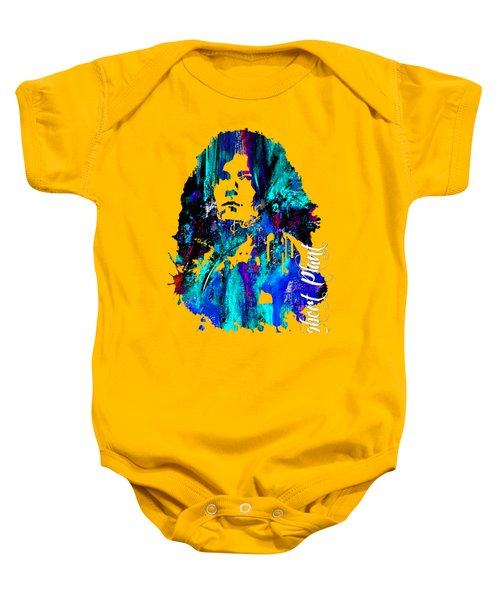 Robert Plant Collection Baby Onesie by Marvin Blaine