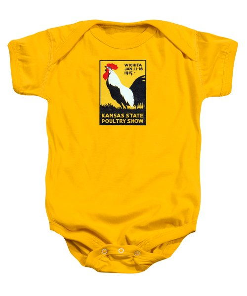 1915 Kansas Poultry Fair Baby Onesie by Historic Image
