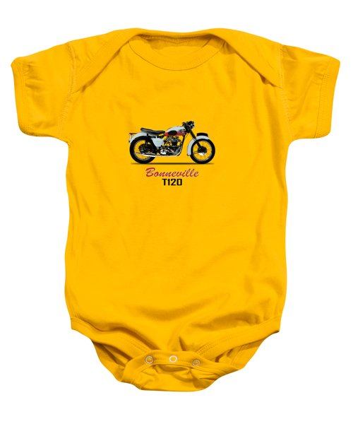 1959 T120 Bonneville Baby Onesie by Mark Rogan