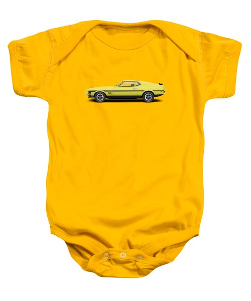 1971 Ford Mustang 351 Mach 1 - Grabber Yellow Baby Onesie