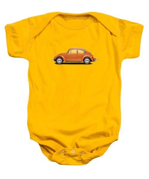 1974 Volkswagen Beetle - Bright Orange Baby Onesie
