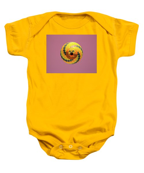 Colorful Abstract Hot Air Balloon Baby Onesie