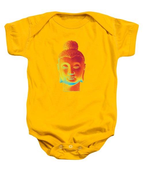 colorful Buddha - Gandhara Baby Onesie by Terrell Kaucher