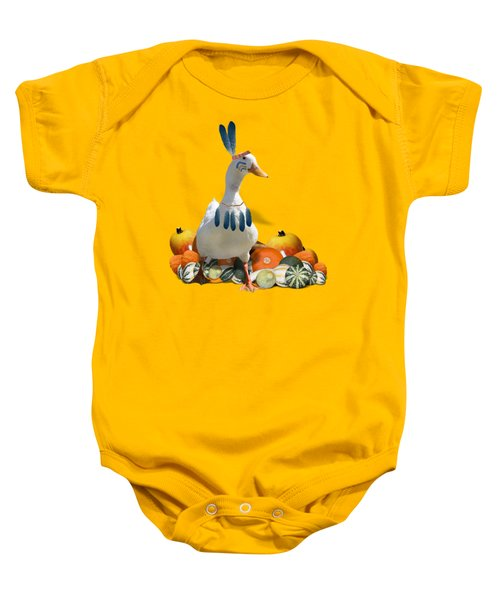 Indian Duck Baby Onesie by Gravityx9 Designs