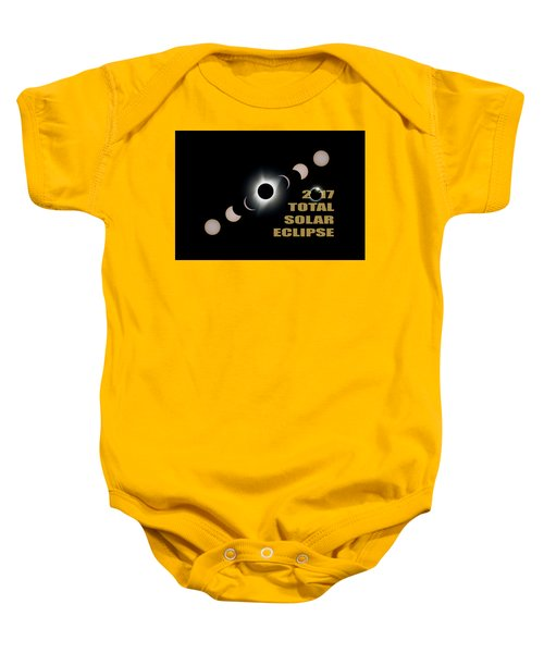 2017 Total Solar Eclipse Phases Baby Onesie