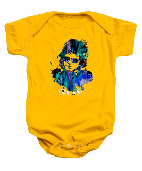 Elton John Collection Baby Onesie by Marvin Blaine