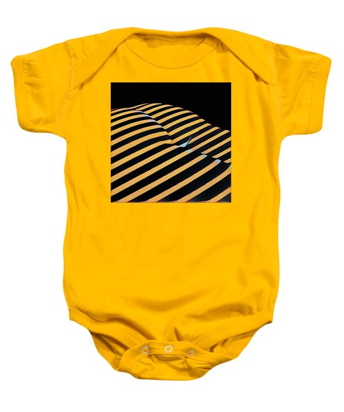 2612s-ak Abstract Rear Butt Bum Thighs Zebra Striped Woman In Composition Style Baby Onesie