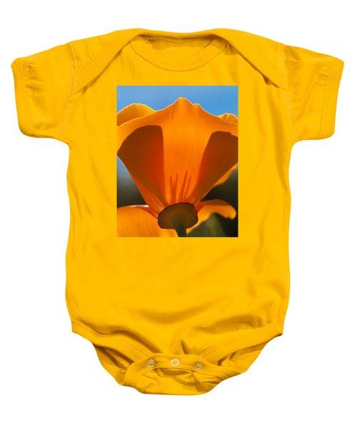 Californian Poppies Baby Onesie