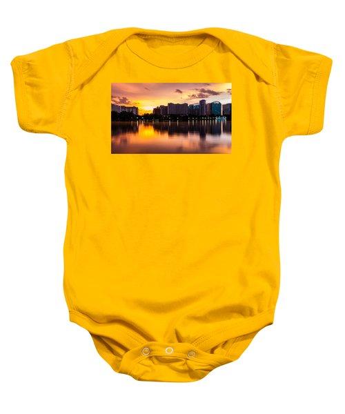 Downtown Orlando Baby Onesie