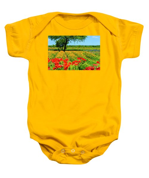 Hill Country In Bloom Baby Onesie