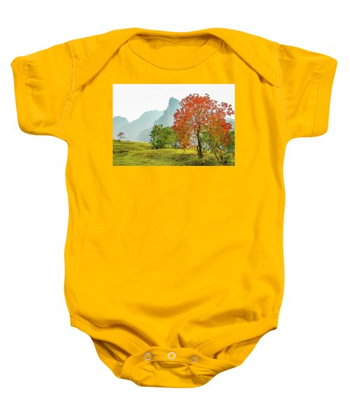 The Colorful Autumn Scenery Baby Onesie