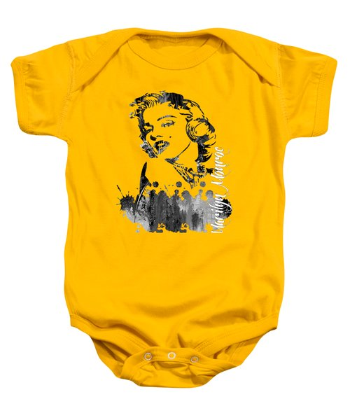 Marilyn Monroe Collection Baby Onesie by Marvin Blaine