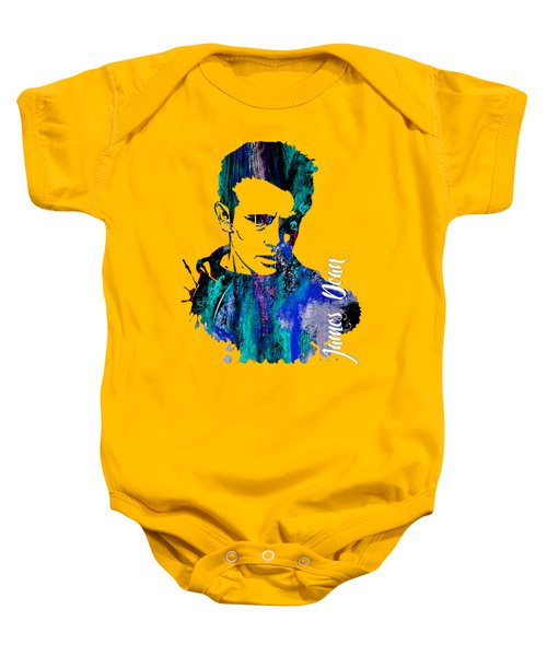 James Dean Collection Baby Onesie by Marvin Blaine