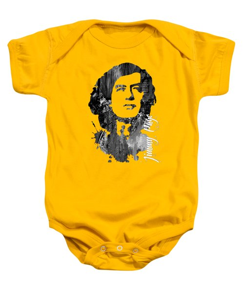 Jimmy Page Collection Baby Onesie by Marvin Blaine