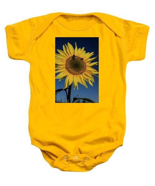 Sunflower Fields Baby Onesie