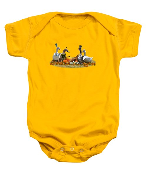 Thanksgiving Ducks Baby Onesie