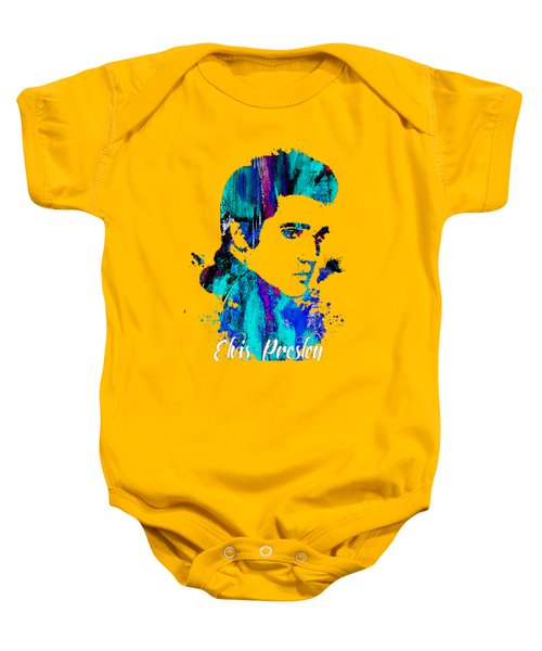 Elvis Presley Collection Baby Onesie by Marvin Blaine