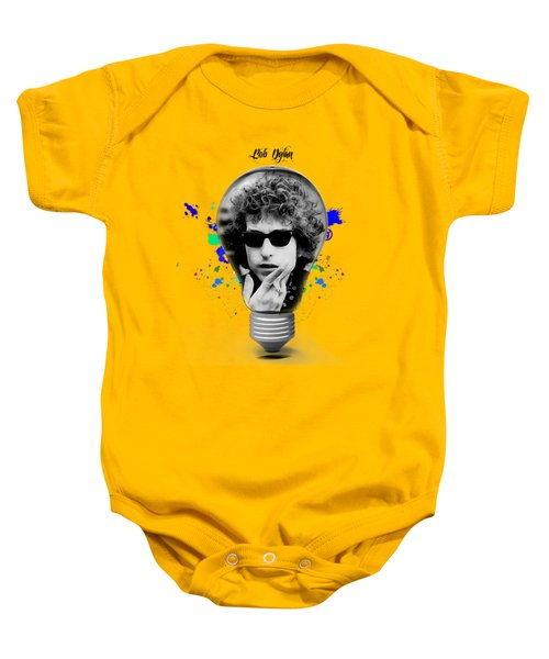 Bob Dylan Collection Baby Onesie by Marvin Blaine