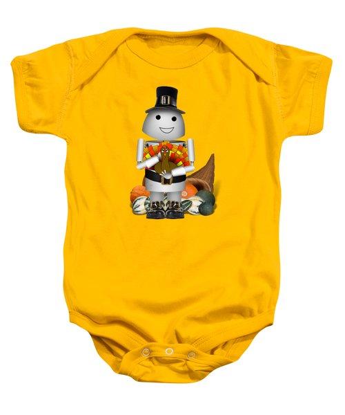 Robo-x9 The Pilgrim Baby Onesie by Gravityx9 Designs