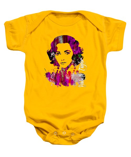 Elizabeth Taylor Collection Baby Onesie by Marvin Blaine