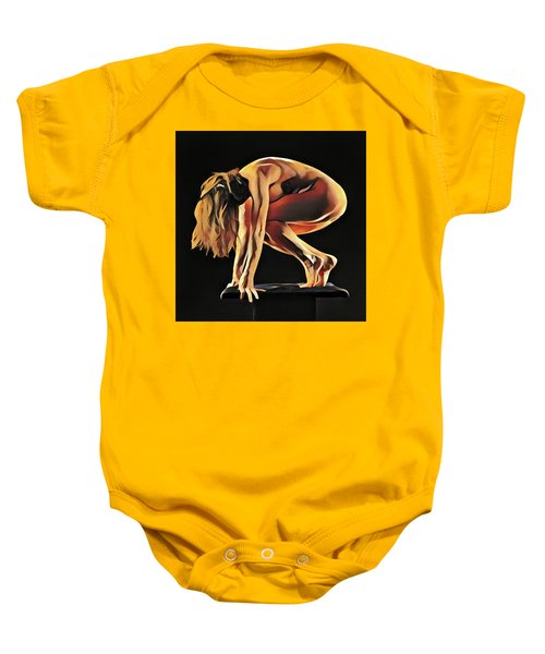 7188s-amg Nude Watercolor Of Sensual Mature Woman Baby Onesie