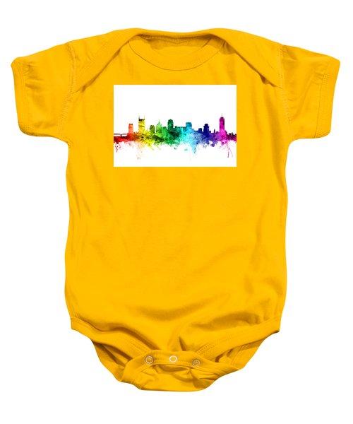 Nashville Tennessee Skyline Baby Onesie
