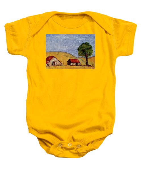 A Farm In California Winecountry Baby Onesie
