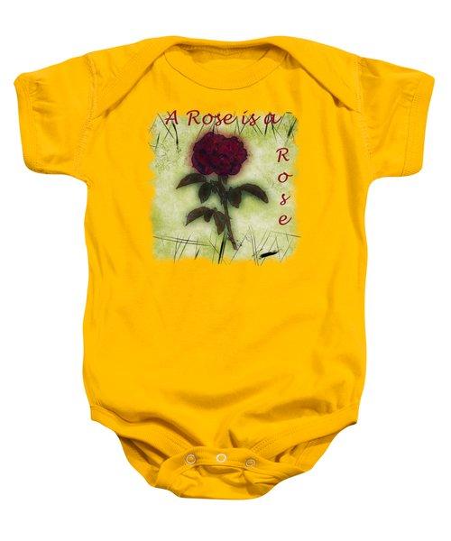 A Rose Baby Onesie