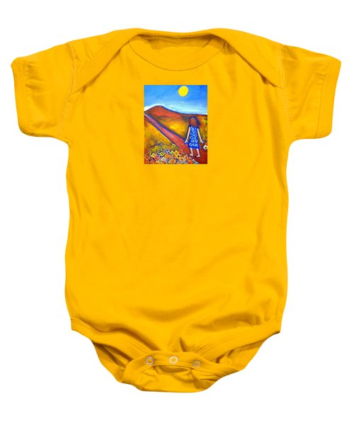 Baby Onesie featuring the painting A Sunny Path by Winsome Gunning