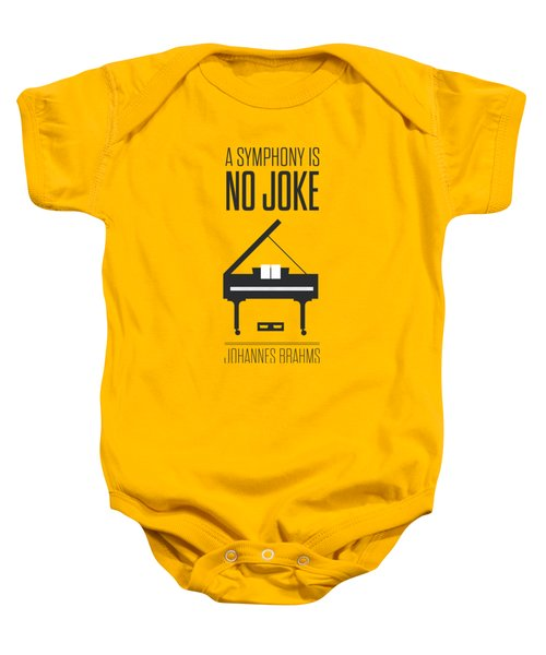 A Symphony Is No Joke Inspirational Quotes Poster Baby Onesie
