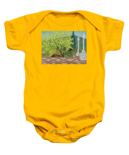 A View From Hearst Castle Baby Onesie
