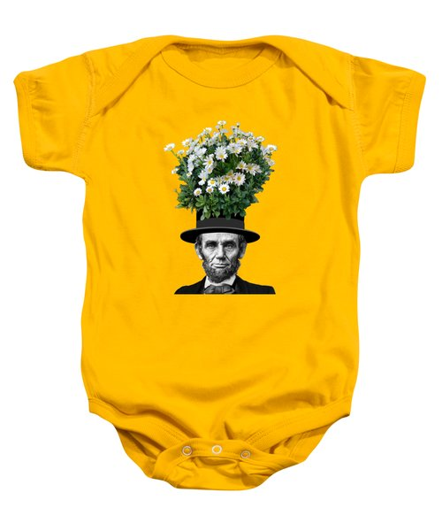 Abraham Lincoln Presidential Daisies Baby Onesie by Garaga Designs