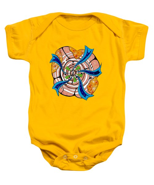 Abstract Digital Art - Ciretta V3 Baby Onesie by Cersatti
