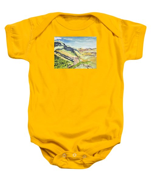 Abstract Hillside Baby Onesie