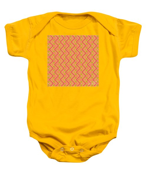 Abstract Orange, Red And Brown Pattern For Home Decoration Baby Onesie