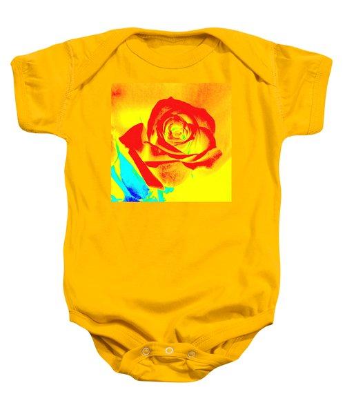 Single Orange Rose Abstract Baby Onesie