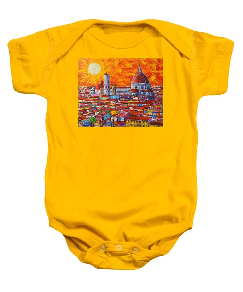 Abstract Sunset Over Duomo In Florence Italy Baby Onesie