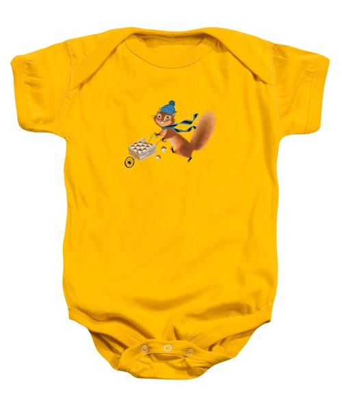 Acorn Industrialist Baby Onesie by Little Bunny Sunshine
