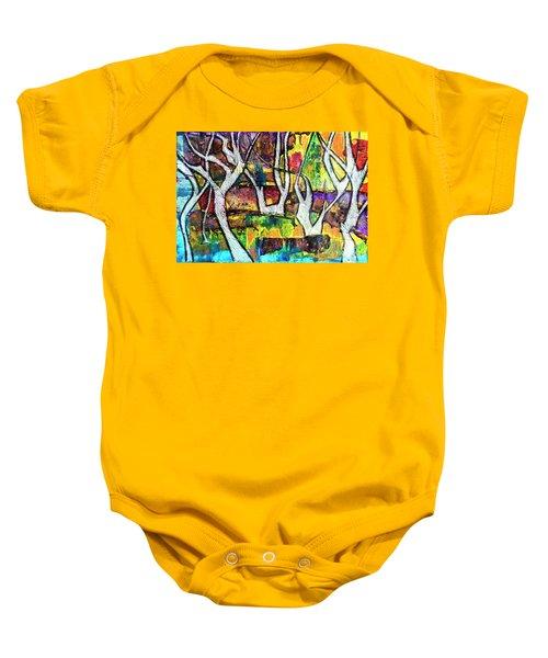 Acrylic Forest  Baby Onesie