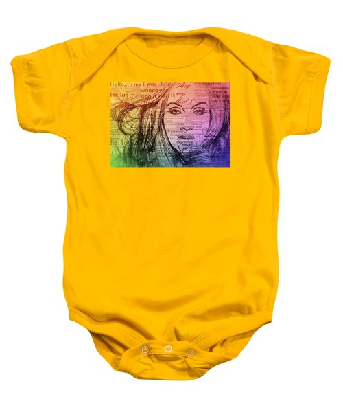 Adele Hello Typography  Baby Onesie by Dan Sproul