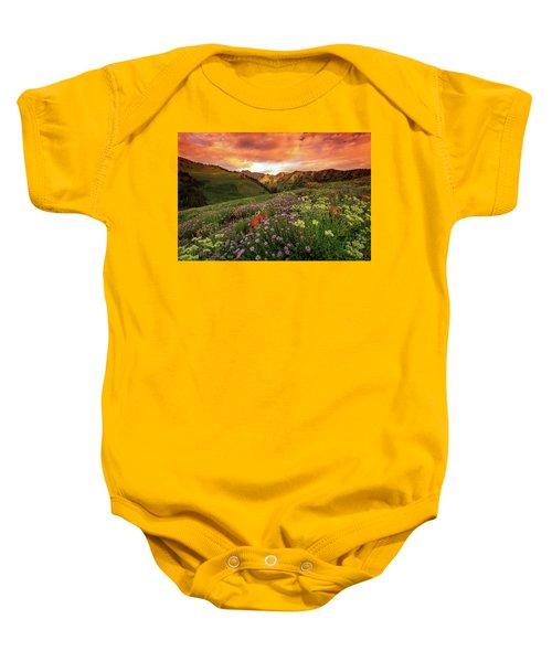 Albion Basin Golden Sunrise Baby Onesie