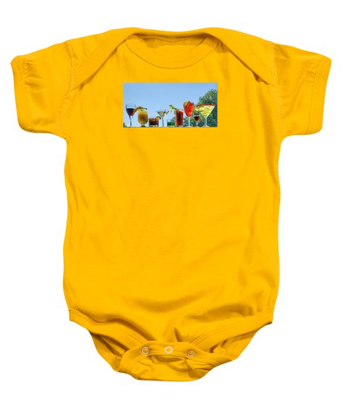 Alcoholic Beverages - Outdoor Bar Baby Onesie by Nikolyn McDonald