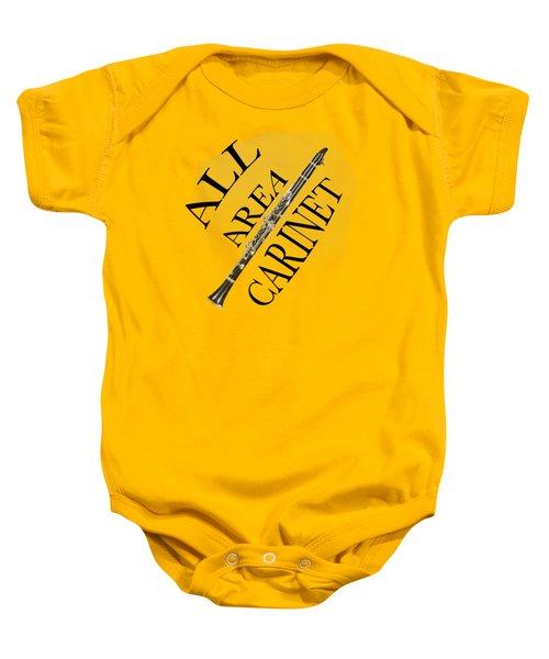 All Area Clarinet Baby Onesie